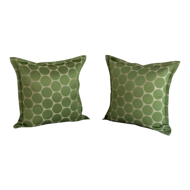 "Pair of Jim Thompson 20"" Square Throw Pillows For Sale"