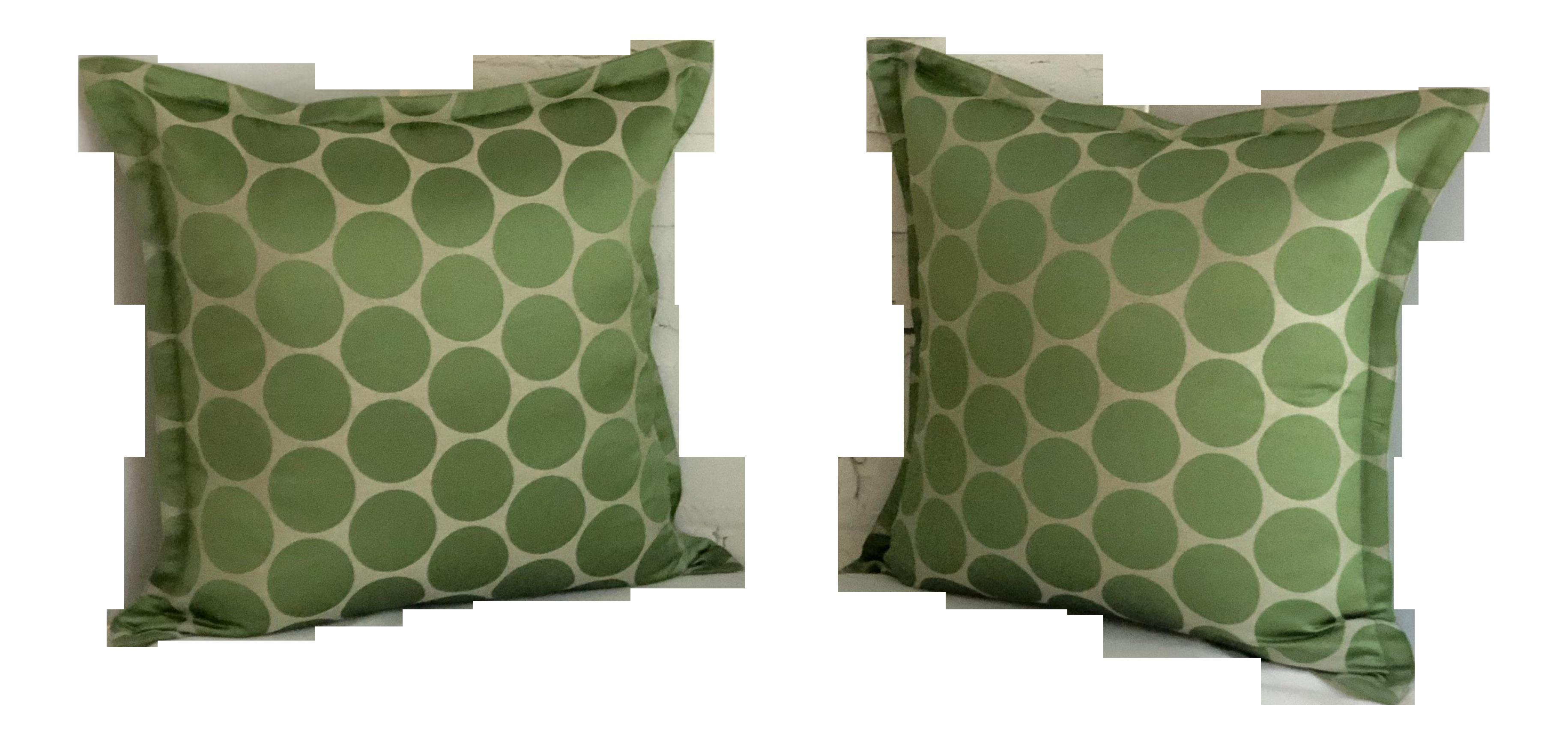 Pair Of Jim Thompson 20u201d Square Throw Pillows