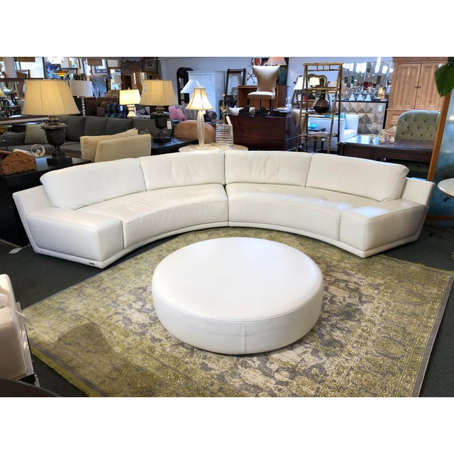Solstice Curved Sectional + Ottoman From Roche Bobois For Sale - Image 12 of 12