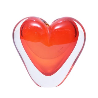 Murano Cenedese Heart Shaped Sculpture
