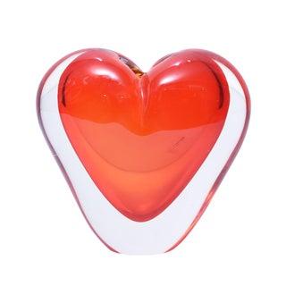 Murano Cenedese Heart Shaped Sculpture