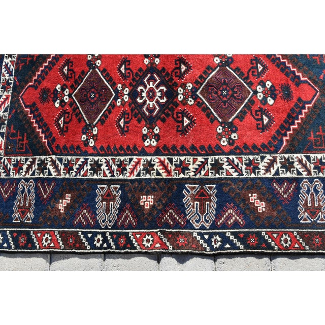 1980s Turkish Oushak Aztec Anatolian Tribal Hand Knotted Wool Carpet For Sale - Image 4 of 12
