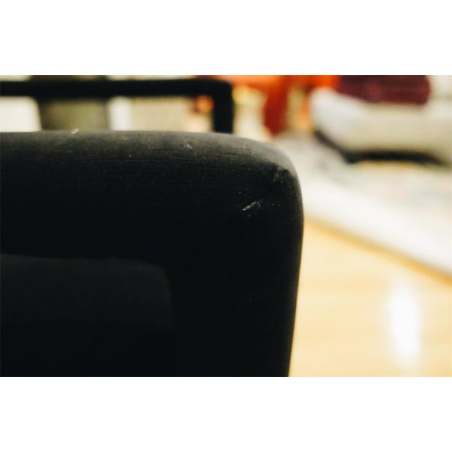Baughman Style Black Velvet Open Arm Chairs - A Pair - Image 8 of 8