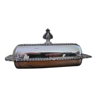 1950s Sterling Silver Butter Dish For Sale