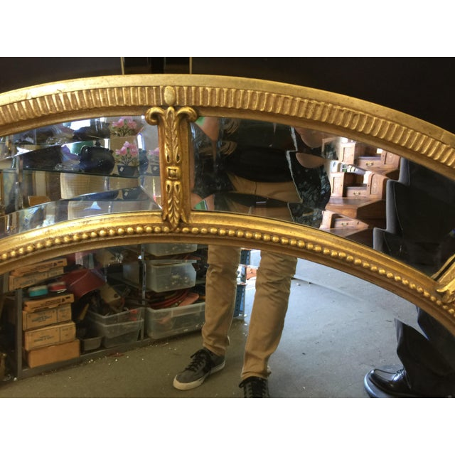 Oval Gold Mirror For Sale - Image 4 of 8