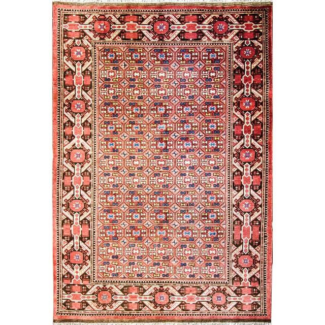 Antique Unusual Turkoman Bashir Main Rug- 6′10″ × 9′10″ For Sale