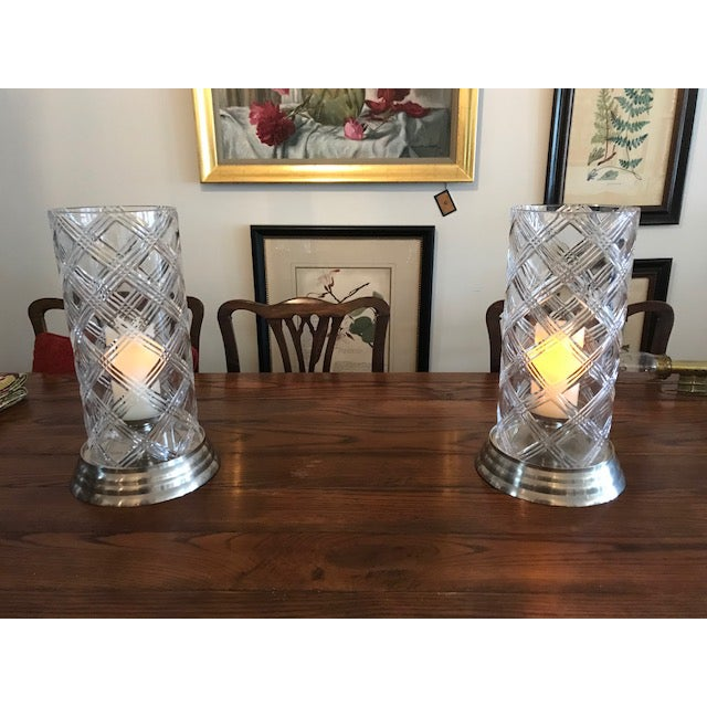 Crystal Hurricane Globes - a Pair For Sale In Kansas City - Image 6 of 11