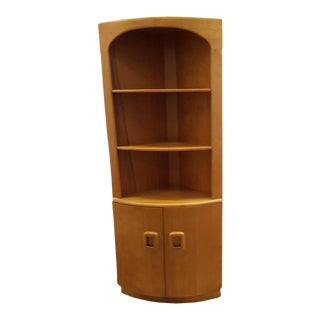 Danish Modern Corner Bookcase
