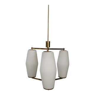 Stilnovo Chandelier From 1950. In Perfect Condition For Sale
