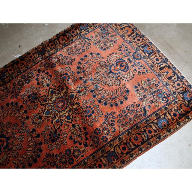 1920s, Handmade Antique Persian Sarouk Rug 3.3' X 5.5' For Sale In New York - Image 6 of 9