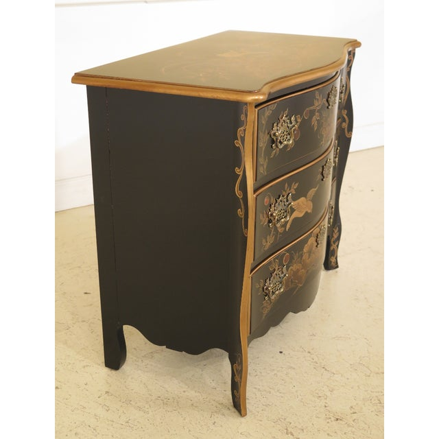 Wood 1990s Vintage Chinoiserie Decorated French Inspired Commode For Sale - Image 7 of 12