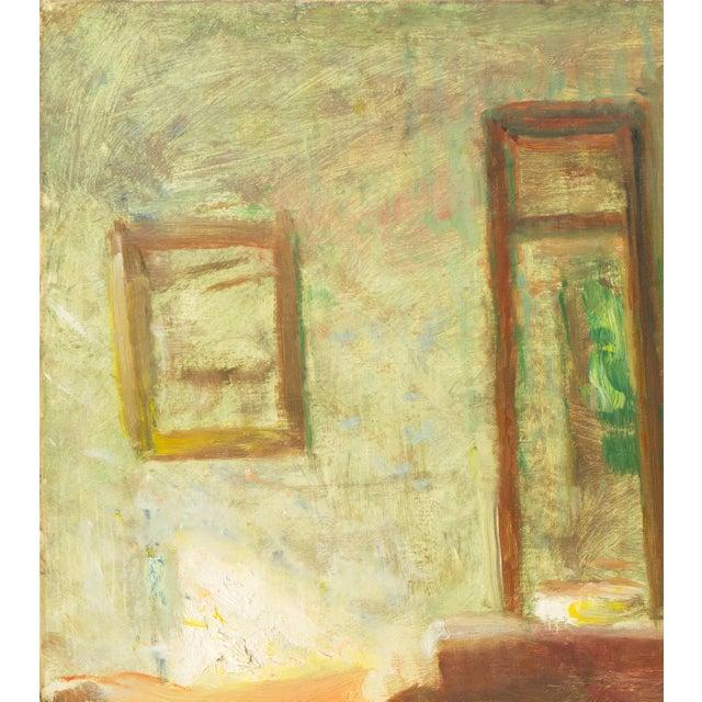 Modern 'Interior With Mirror' by Julius Paulsen, Paris Salon, Royal Danish Academy, Impressionist Oil, Benezit For Sale - Image 3 of 9