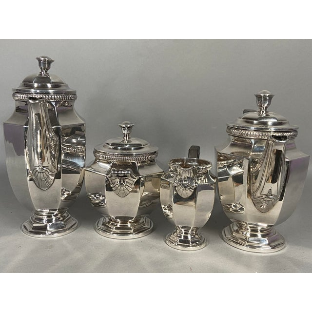 French Antique 19th Century Christofle Silver-Plated Tea Set - Set of 5 For Sale - Image 3 of 11
