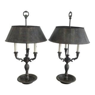 Bronze Maitland Smith Bouilette Lamps, 1990s - a Pair For Sale