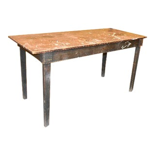 Antique Primitive Industrial Work Bench Table For Sale
