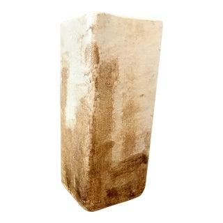 Beige Linen Clay Vase