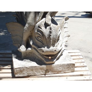 Cast Stone Putto and Dolphin Fountain Element Statue, France Preview