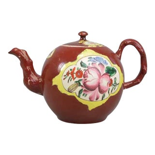 Plum Saltglaze Stoneware Teapot & Cover For Sale