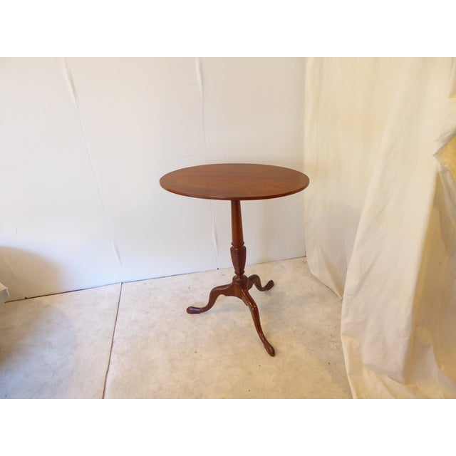 Late 18th Century 18th Century American Mahogany Candlestand Side Table For Sale - Image 5 of 5