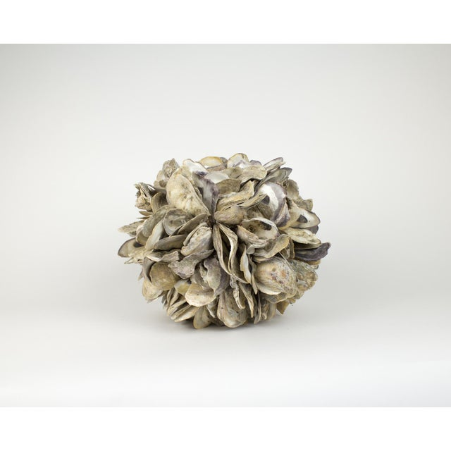 Large Natural Oyster Shell Sphere Sculpture For Sale In New York - Image 6 of 10