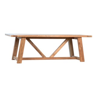 Shasta Outdoor Teak Dining Table For Sale
