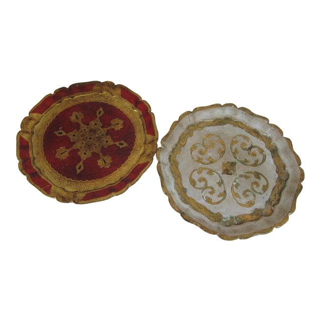 Vintage Florentine Trays - a Pair For Sale