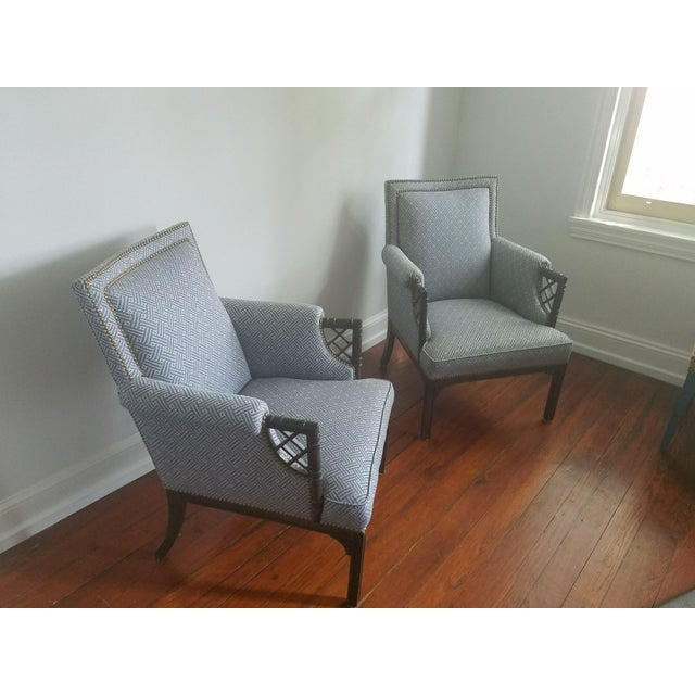 Lee Jofa Upholstered Armchairs - a Pair For Sale In Philadelphia - Image 6 of 6
