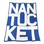 Nantucket Throw, Blue by Liz Roache