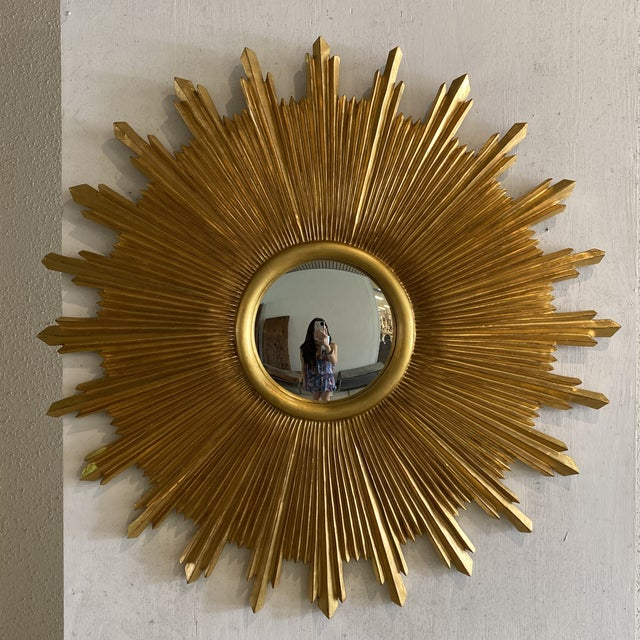 "Carvers guild Starburst. 48"" in antique gold leaf. Great large size."