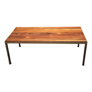 Reclaimed Wood Coffee Table For Sale