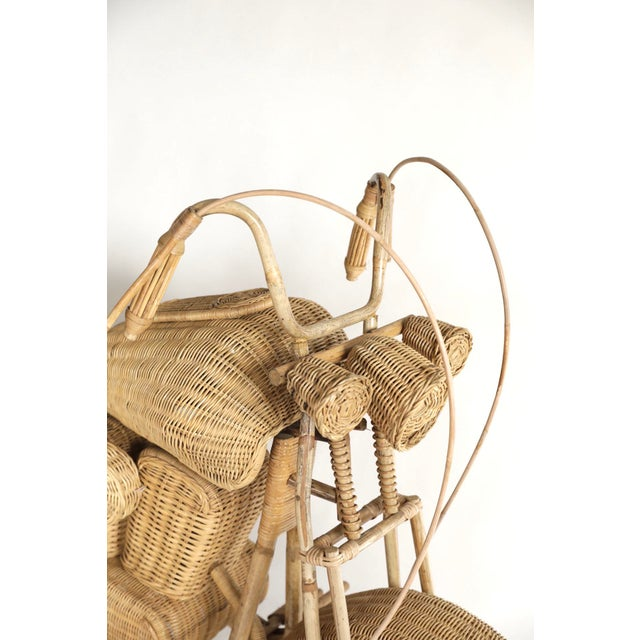 Wood Tom Dixon Rattan Motorcycle Sculpture For Sale - Image 7 of 13