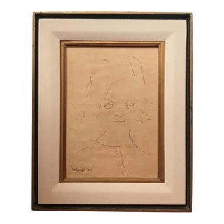 Portrait of a Little Girl Signed Gino Hollander For Sale