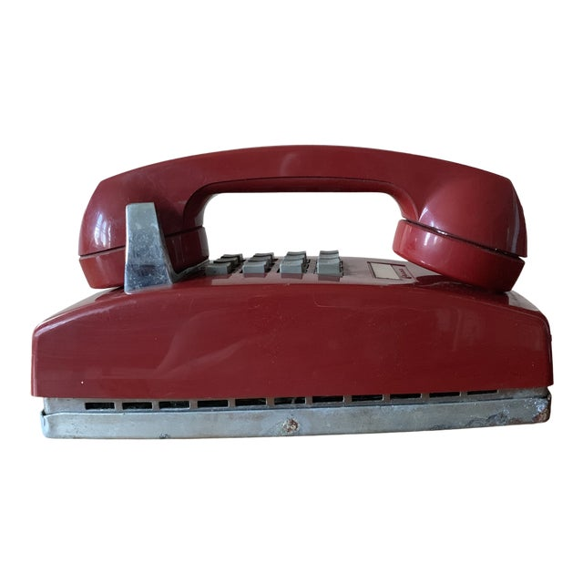 Vintage Red Push Button Telephone For Sale