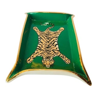 Jonathan Adler Tiger Valet Tray For Sale