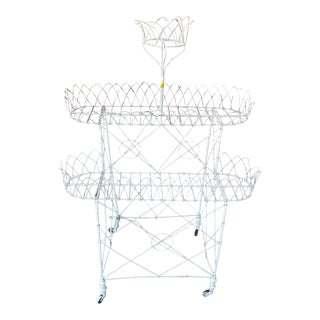 French Victorian Bentwire Plant Stand For Sale