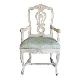 Antique French Provincial Arm Chair For Sale