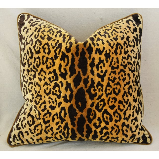 Scalamandre Leopardo Leopard & Mohair Feather/Down Pillows - a Pair For Sale In Los Angeles - Image 6 of 11