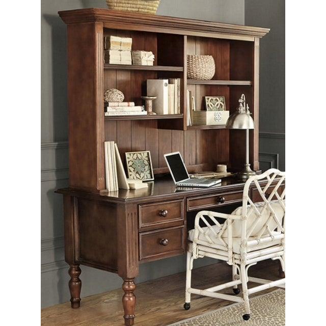 Ballard Designs Wooden Desk With Hutch - Image 4 of 6