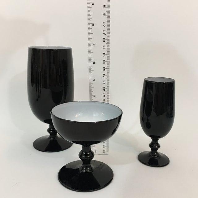 Vintage Carlo Moretti Black and White 20 Piece Glassware Set For Sale - Image 12 of 13