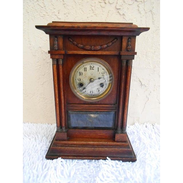 Vintage Mantle Clock For Sale - Image 10 of 10