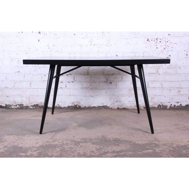 1950s Paul McCobb for Planner Group Ebonized Extension Dining Table & Chairs - Set of 6 For Sale - Image 10 of 13