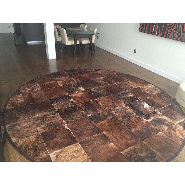 South American Hide Tile Rug - 11′ × 11′ - Image 3 of 4