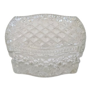 Clear Pressed Glass Box For Sale