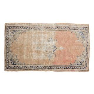 """Vintage Distressed Oushak Rug - 2'6"""" X 4'5"""" For Sale"""