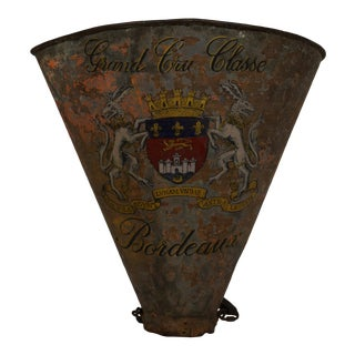Late 19th-Century French Painted Hotte De Vendage (Grape Hod) For Sale