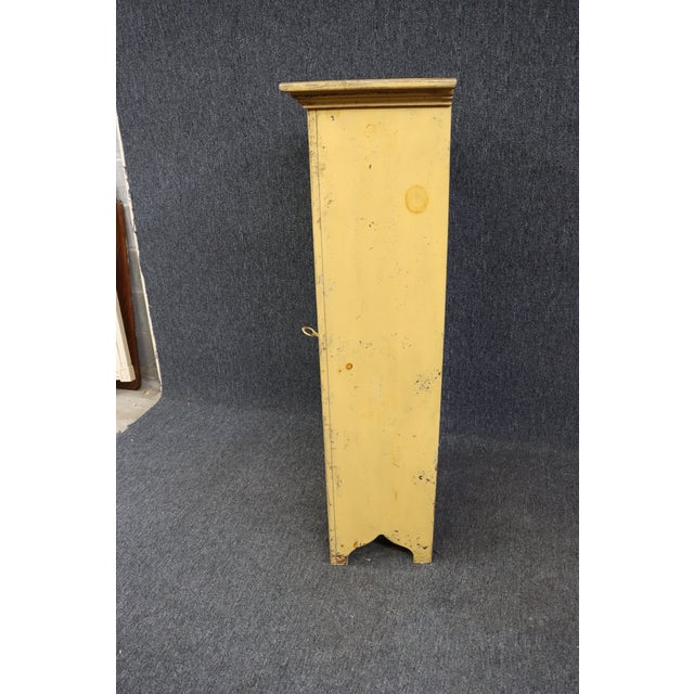 Wood Habersham Rustic Country Style Painted Pantry Cabinet For Sale - Image 7 of 8