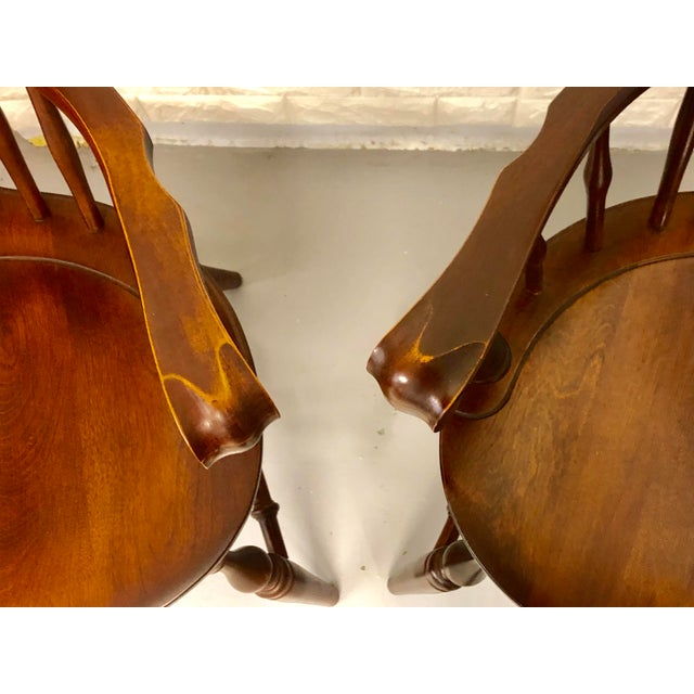 1980s Vintage Nichols & Stone Windsor Chairs- A Pair For Sale - Image 11 of 13
