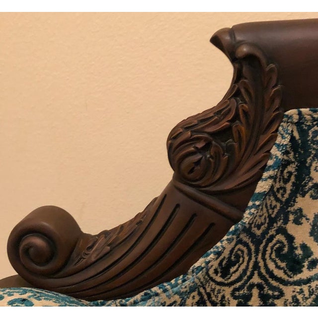 Asian Vintage Mid Century Wooden Solid Teakwood Sofa Set- 2 Pieces For Sale - Image 3 of 9