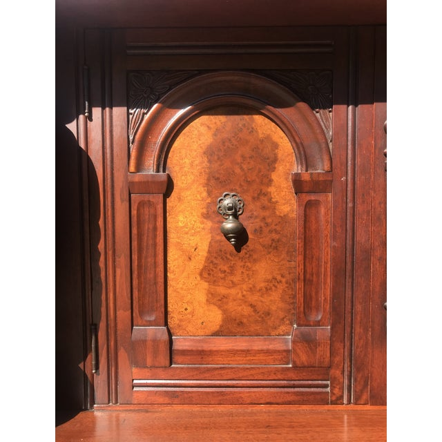 Early 20th Century Art Nouveau Walnut Hutch by Berkey and Gay For Sale - Image 5 of 12