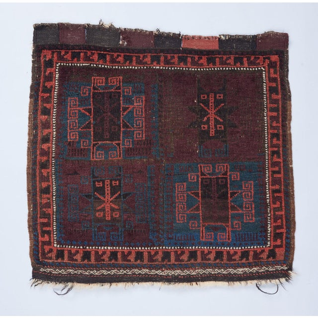 19th Century Baluch Bagface Rug - 2′ × 2′ For Sale - Image 5 of 5